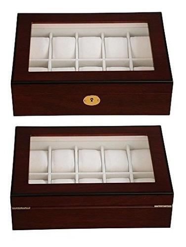 sícom estuche de madera para relojes caja organizadora regal