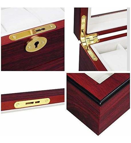 sicom estuche de madera para relojes caja organizadora regal