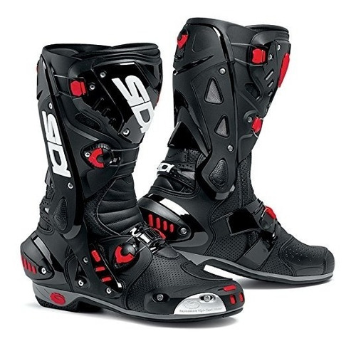 sidi vortice air motocicleta botas (negro, tamaño 11,5 - 46)