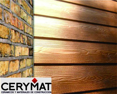 siding superboard fibrocemento simil madera construcción