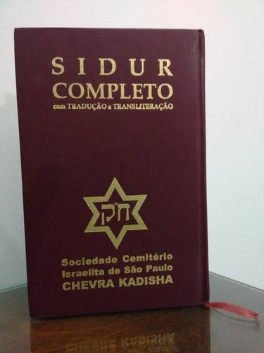 sidur completo com tradução e transliteração.