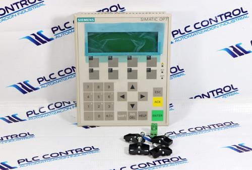 siemens 6av3607-1jc30-0ax1 simatic op7/dp12 panel operador