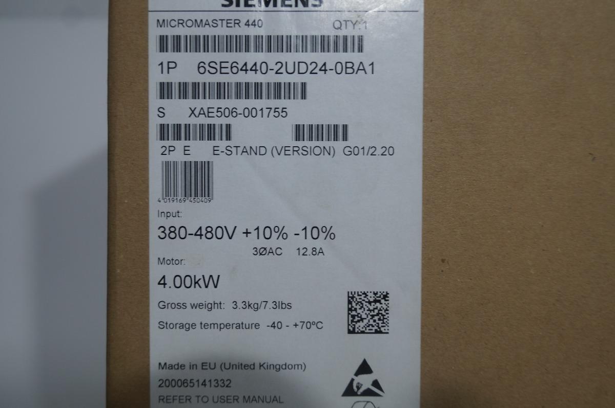 Siemens Micromaster Mm440 6se6440-2ud24-0ba1 - $ 29,088.50 en ...