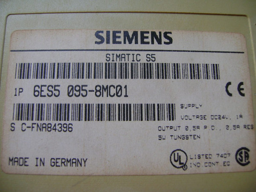 siemens s5-95u cpu 6es5 095-8mc01 pg/si1 si2
