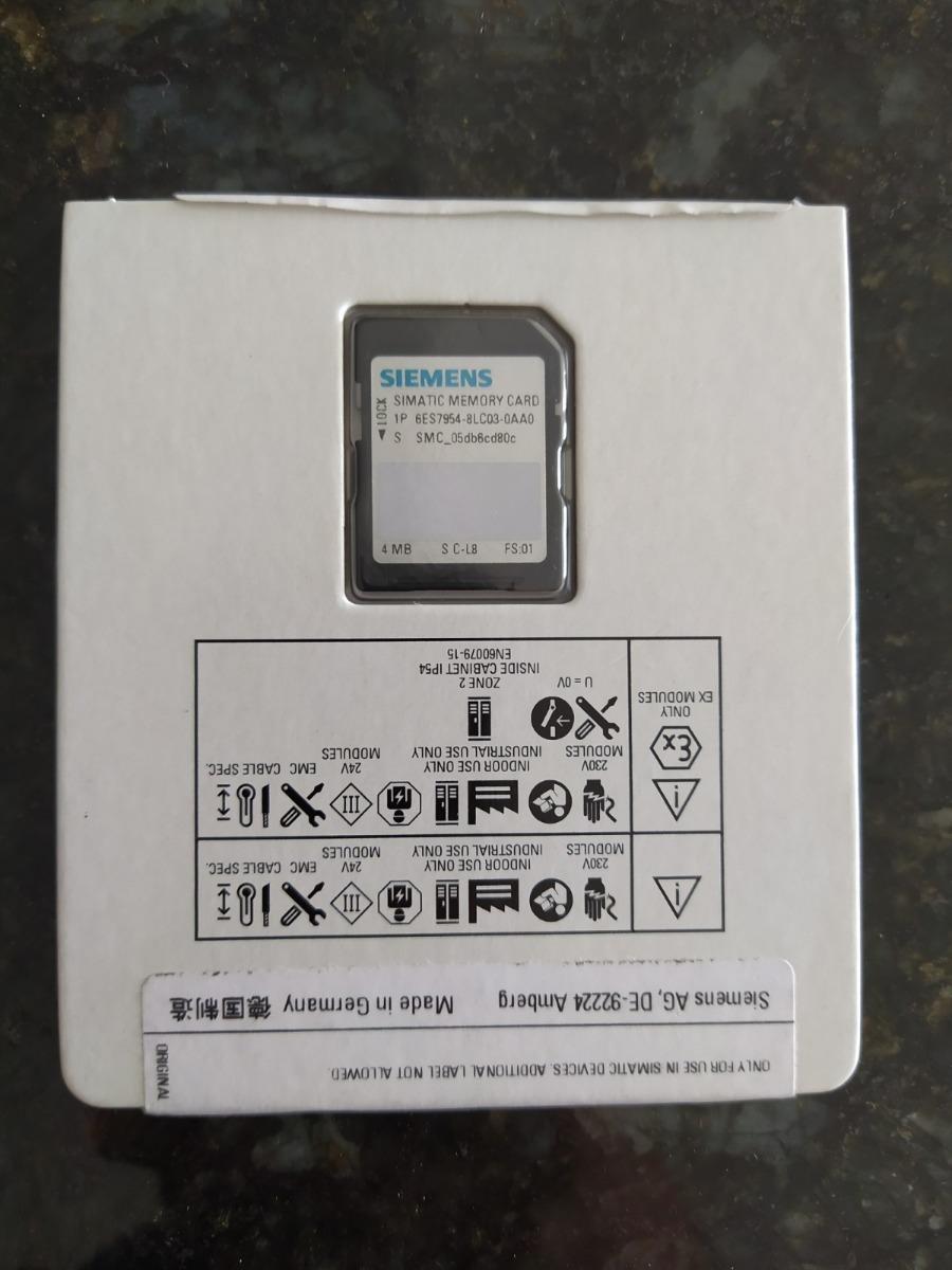 Siemens Simatic Memory Card 4mb # 6es7954-8lc03-0aa0