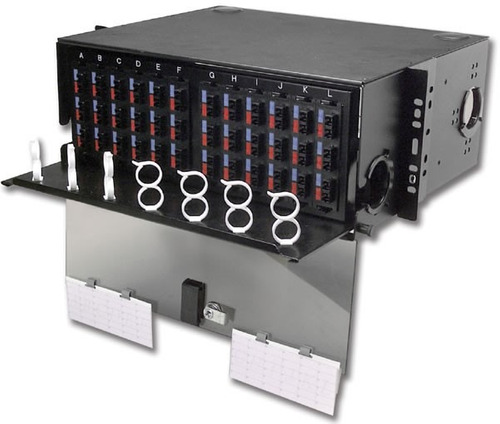 siemon ric-f-sa6-01 panel 3 duplex st adapters (6 fibers)