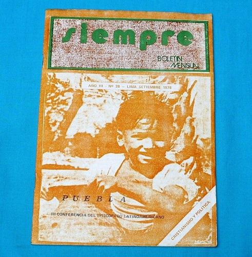 siempre 1978 boletín centro proyección cristiano democracia