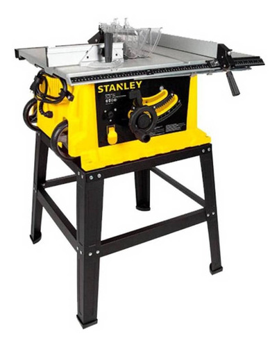sierra banco o mesa 10 in 1800w con disco de madera stanley
