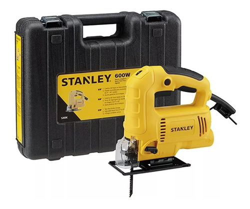 sierra caladora 600w  c/ maleta plastica stanley sj60k