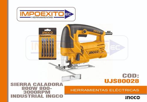 sierra caladora 800w 800- 3000rpm industrial ingco