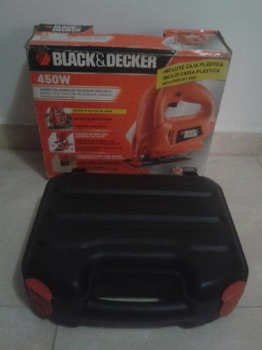 sierra caladora black & decker 450w con prensas