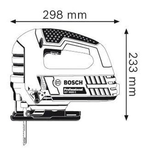 sierra caladora bosch gst 75 e 750w vel. variable