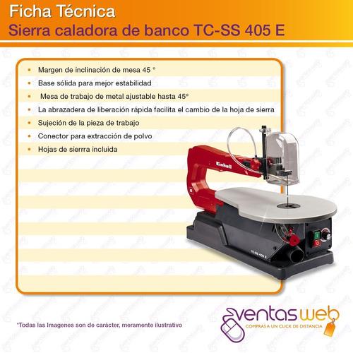 sierra caladora de banco einhell soplador 120w + 5 sierras