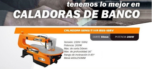 sierra caladora de banco sensitiva 200w bss-16bv lusqtoff