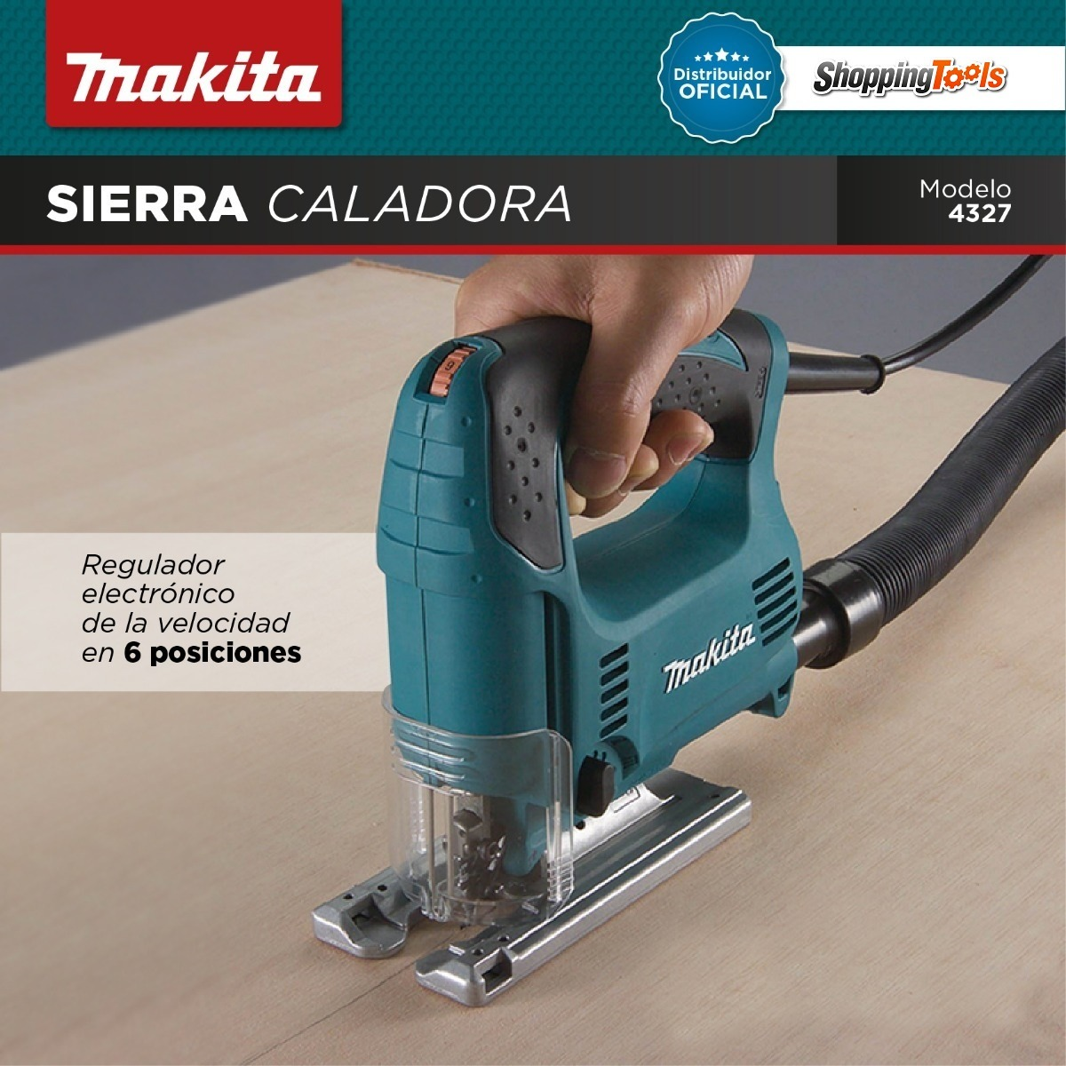 Sierra Caladora De Mano Makita Mod 4327 450w Vel  Variable