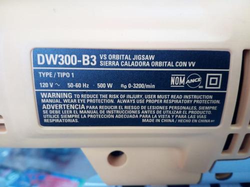 sierra caladora dewalt dw300 500w