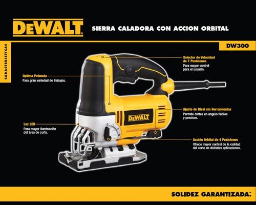 sierra caladora dewalt dw300 500w luz led tlbd473