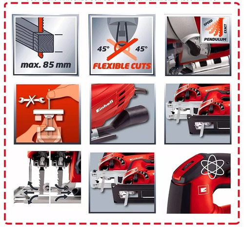 sierra caladora einhell tc-js 85 pendular + maletín oferta
