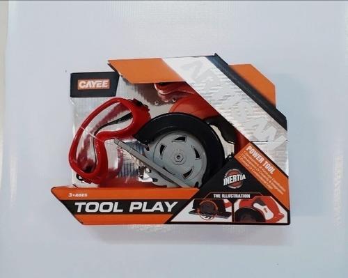 sierra  caladora juguete  niños + gafas + pilas / barbazar