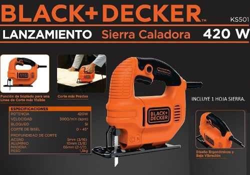 sierra caladora ks501 de 420 w black&decker envio gratis
