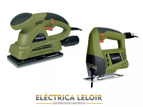 sierra caladora + lijadora orbital electrica philco cuotas