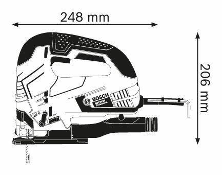 sierra caladora marca bosch modelo gst 90 be