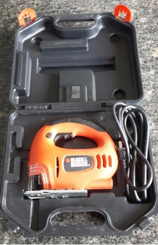 sierra caladora para madera black & decker 450w con maletín