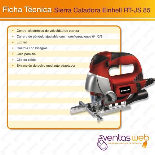 sierra caladora rt-js 85 einhell 750 w profesional + sierras