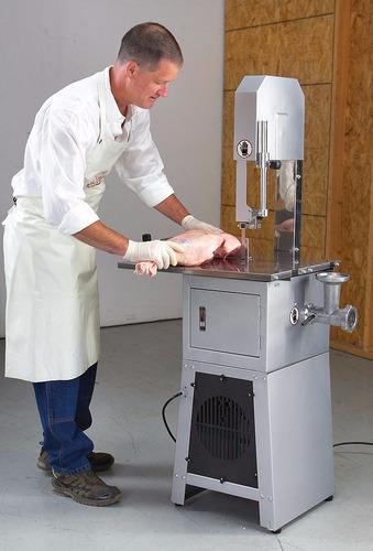 sierra carnicera con moledor de carne / comercial santis