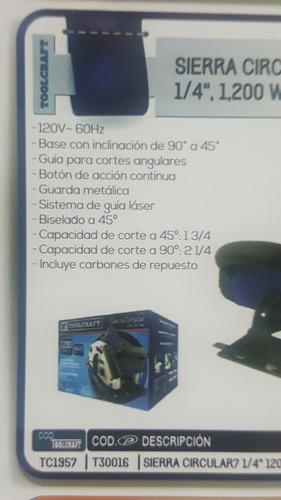 sierra circular 7 1/4 1200 watts toolcraft