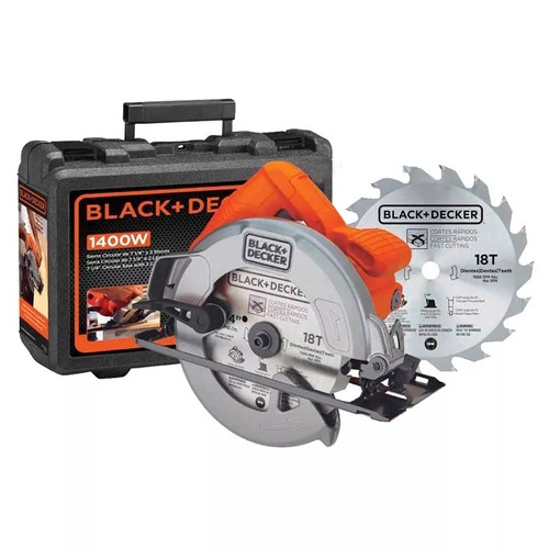 sierra circular black decker 1400w cs1004k maleta + 2 discos