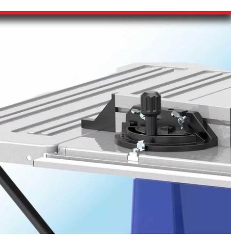 sierra circular de mesa banco 1800w 250mm + disco 100 diente melamina kld