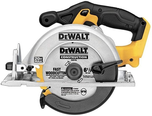 sierra circular dewalt dcs393 20v 6-1/2 y disco sin batería