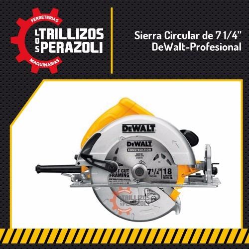 sierra circular dewalt dw560 1400 w disco widia madera corte