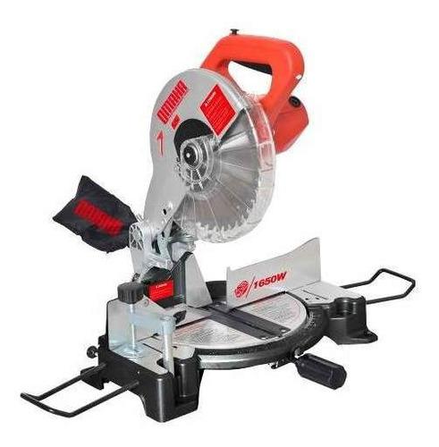 sierra circular ingletadora omaha 255 mm 1650 w + disco