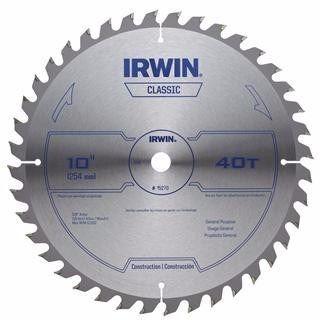 sierra circular para madera 10 pulgadas 40 dientes irwin