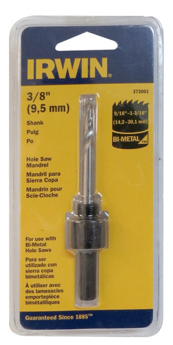 sierra copa mandril de 3/8 (9/16-1 3/16) irwin modelo 373001