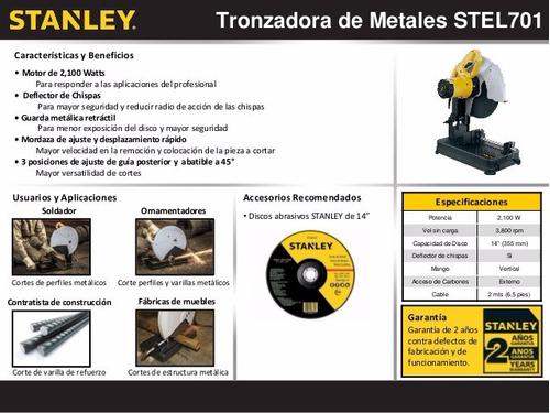 sierra cortadora de metales 2100 w stel701 stanley cod2385