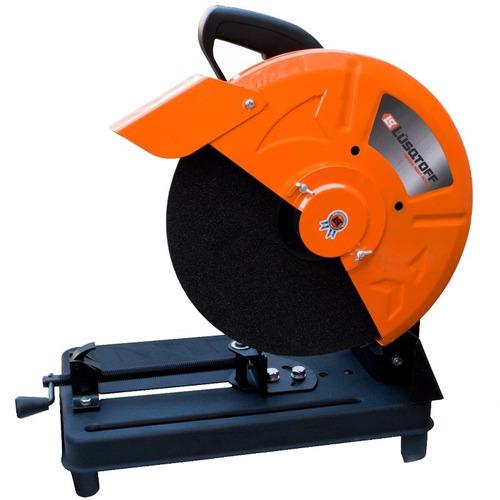 sierra cortadora sensitiva lusqtoff 355mm 2.7hp 2000w discos