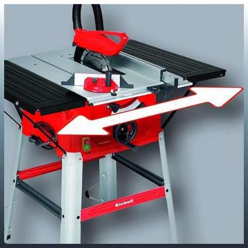 sierra de banco einhell 2000w 2 en 1  250mm mesa tc-ts2025
