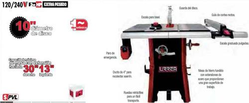 sierra de mesa contractor uso extra pesado urrea sm1010