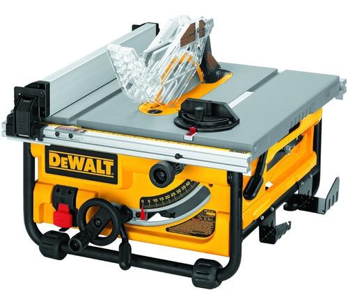 sierra de mesa portatil de 10 2000w dewalt dw745