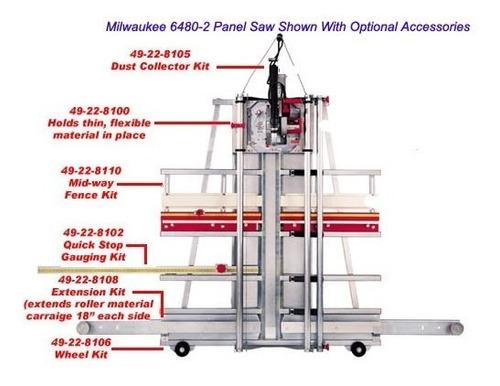 sierra de panel de 8 milwaukee 6480