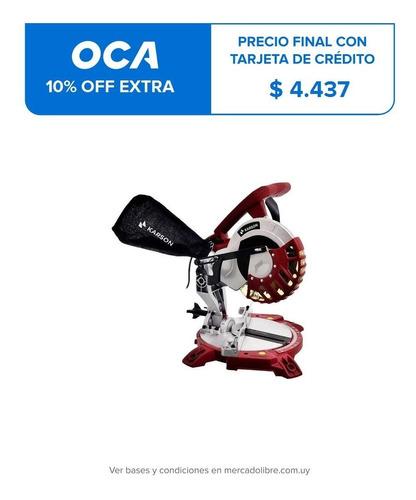 sierra ingletadora 1300 w karson + bolso regalo