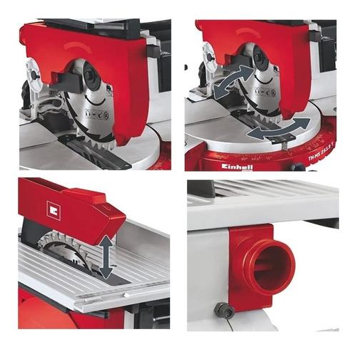 sierra ingletadora + mesa 255mm einhell 1800w combinada 2en1