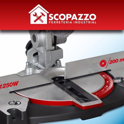 sierra ingletadora omaha 210 mm 1250 w 1,7 hp + disco madera
