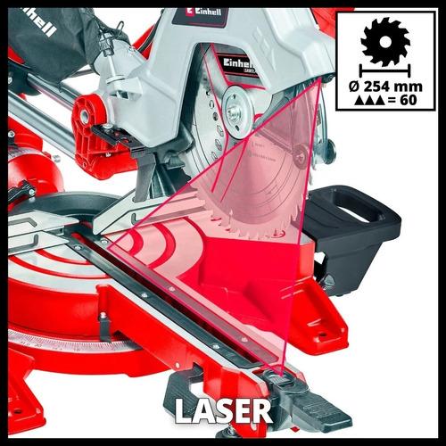 sierra ingletadora telescopica einhell laser 2100w 254mm 10