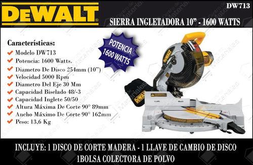 sierra ingleteadora dewalt dw 713 b3 10 pulgadas nuevo