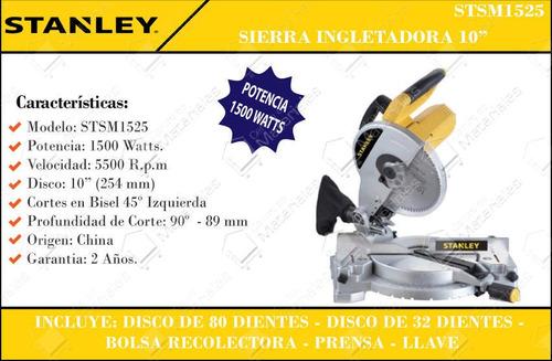 sierra ingleteadora stanley nuevo de 1500 watts