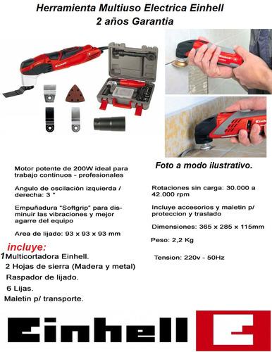 sierra oscilante multicortador 200w einhell +12 acc oferta !